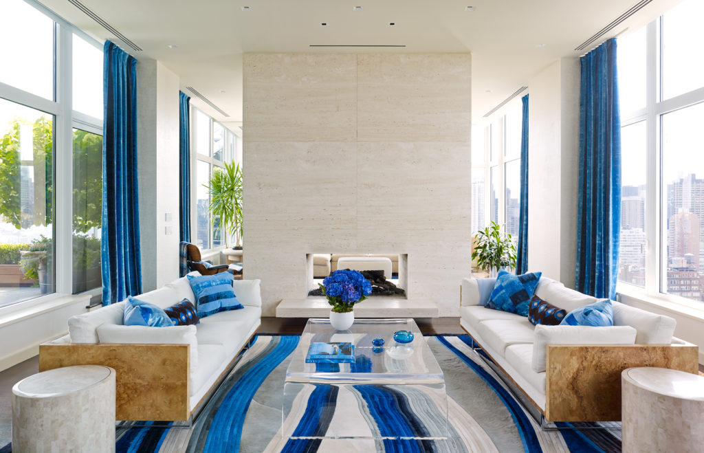 Upper East Side Penthouse Living Room
