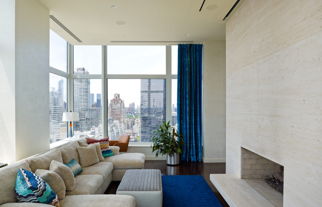 Upper East Side Penthouse Living Space