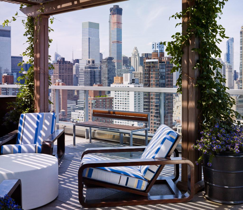 Upper East Side terrace pergola