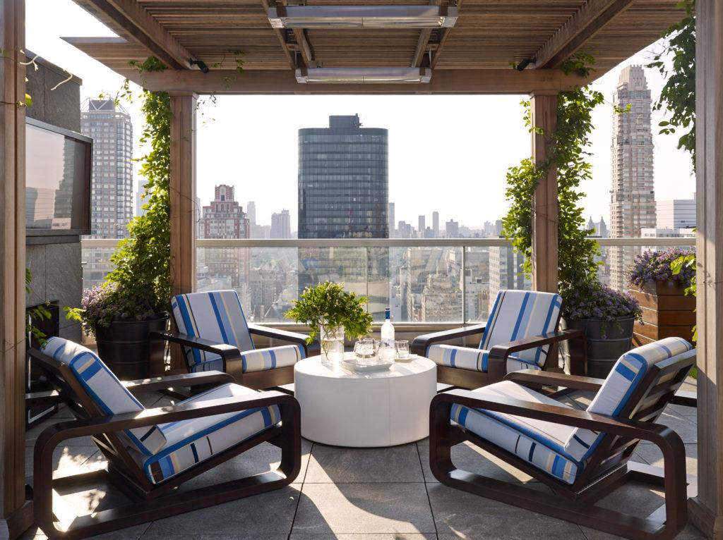 Upper East Side Terrace Lounge Area